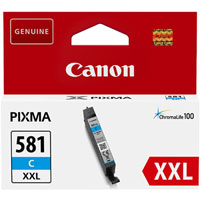 1995C001 - Genuine Canon CLI-581C XXL Cyan Ink Tank - Extra High Yield Cartridge - 11.7ml