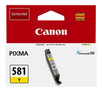 2105C001 - Genuine Canon CLI-581Y Yellow Ink Tank - Standard Cartridge - 5.6ml