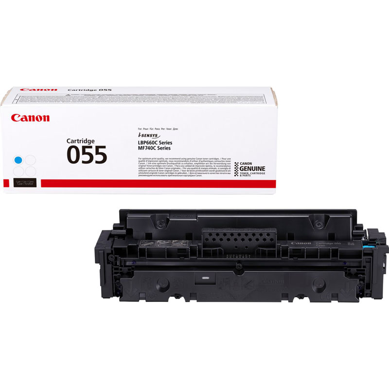 3015C002 - Canon 055 Cyan Toner Cartridge - 2,100 Pages