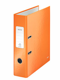1005-00-44 - Leitz WOW Burnt Orange wide spine lever arch file - Box of 10 - A4 Format