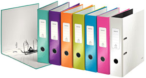 1005-10-99 - Leitz WOW Assorted Colour wide spine lever arch file - Box of 10 - A4 Format