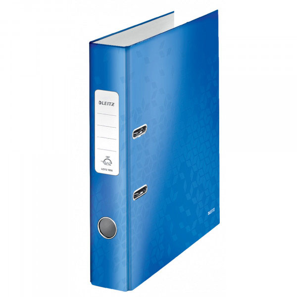 1006-00-36 - Leitz WOW Blue narrow spine lever arch file - Box of 10 - A4 Format