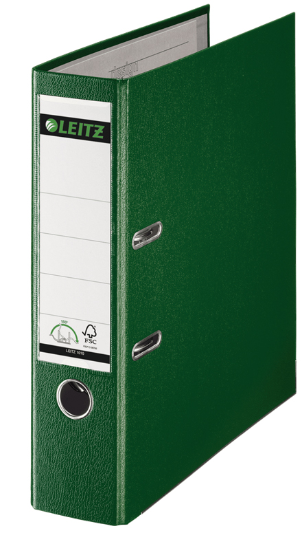 10101255 - Leitz 180° Plastic A4 Lever Arch File - Green