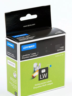 S0722550 - Dymo 11355 Label Writer Labels, Multi Purpose - Removable Adhesive