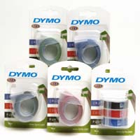 S0847730 - Dymo Black Embossing Tape 9mm x 3m Triple Pack