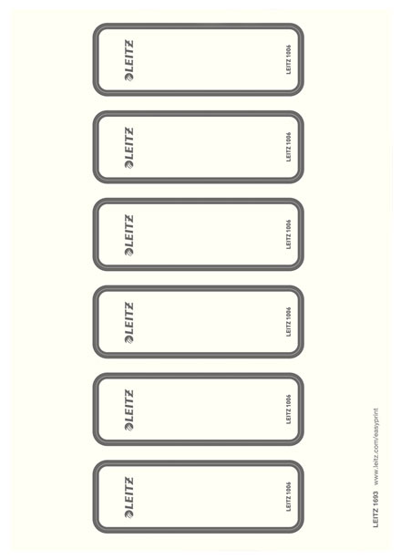 16930085 - Leitz PC printable Spine Labels for WOW lever arch files