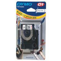 S0718050 - Dymo Black on White Tape, 19mm x 3.5m Permanent Flexible Nylon Tape - (legacy code-16958)