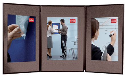 1900044 - Nobo Showboard 3 Panel Portable Display System, Blue / Grey