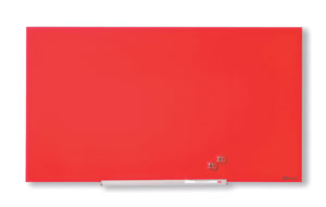 1905183 - Nobo Diamond Glass Board, Magnetic - Red 677x381mm - 31""