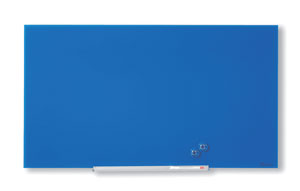 1905187 - Nobo Diamond Glass Board, Magnetic - Blue 677x381mm - 31""