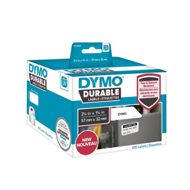 1933084 - Dymo 1933084 LabelWriter Durable medium multi-purpose, 57mm x 32mm - Black on White - 800 Labels