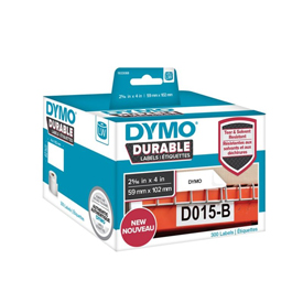 1933088 - Dymo 1933088 LabelWriter Durable shipping labels, 59mm x 102mm - Black on White - 300 Labels