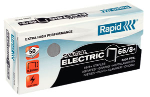 24868000 - Rapid 66/8+ Strong Staples, Box of 5,000 Staples