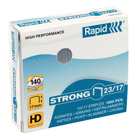 24870200 - Rapid Strong Staples 23/15, 5 Boxes of 1,000 Staples (5,000 Staples total)