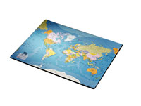 32184 - Esselte Map of the World Desk Mat - Multicoloured