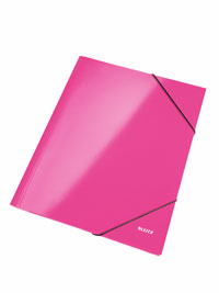 3982-00-23 - Leitz WOW Pink 3 flap folder - Box of 10