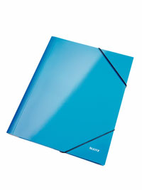 3982-00-36 - Leitz WOW Blue 3 flap folder - Box of 10 - Discontinued by ACCO Leitz