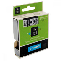 S0720670 - Dymo 9mm Black on Clear Tape x 7m - (legacy code-40910)