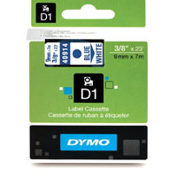 S0720690 - Dymo 9mm Blue on White Tape x 7m - (legacy code-40914)