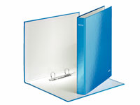 4241-00-36 - Leitz WOW Laminated Blue 2 Ring Binder - Box of 10