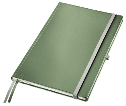 44750053 - Leitz Style Green Notebook A4 ruled with hardcover, the elegant notebook for professionals