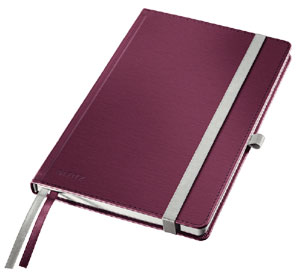 44860028 - Leitz Style Notebooks, Squared A5, Pack of 5 Note Books - Garnet Red - Discontinued By Leitz/ACCO