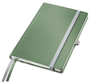 44850053 - Leitz Style Notebooks, Ruled A5, Pack of 5 Note Books - Celadon Green