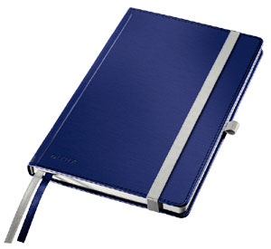 44850069 - Leitz Style Notebooks, Ruled A5, Pack of 5 Note Books - Titan Blue