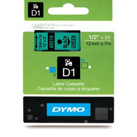 S0720590 - Dymo 12mm Black on Green Tape x 7m - (legacy code-45019)