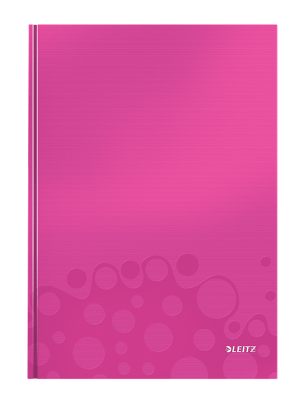 46251023 - Leitz WOW metallic Pink 80 page A4 ruled notepad - Pack of 6