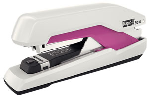 5000548 - Rapid Supreme Omnipress Fullstrip Stapler SO30, Pink & White 30 Sheet Stapler