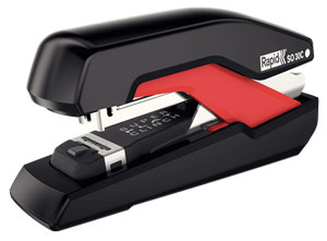 5000550 - Rapid Supreme Omnipress Compact Stapler SO30c, Black & Red 30 Sheet Stapler