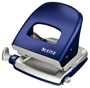 50060069 - Leitz NeXXt Series Style Office Hole Punch, Designer Hole Punch 30 Sheet Capacity - Titan Blue