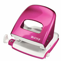 50081023 - Leitz New NeXXt WOW Metal Office Hole Punch - Pink Hole Punch