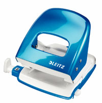 50081036 - Leitz New NeXXt WOW Metal Office Hole Punch - Blue Hole Punch