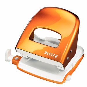 50081044 - Leitz New NeXXt WOW Metal Office Hole Punch - Orange Hole Punch