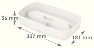 53230001 - MyBox - Organiser Tray with Handle Small - White