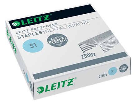 54970000 - Leitz Softpress Staples, Box of 2,500 - 30 Sheets