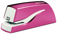 55661023 - Leitz NeXXt Series WOW Electric Stapler - Pink Battery Powered Stapler * Free Delivery *