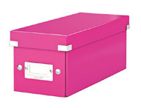 6041-00-23 - ACCO Leitz Metallic Pink Click & Store CD Storage Box