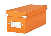 6041-00-44 - ACCO Leitz Metallic Orange Click & Store CD Storage Box