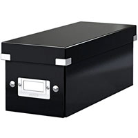 6041-00-95 - ACCO Leitz Black Click & Store CD Storage Box