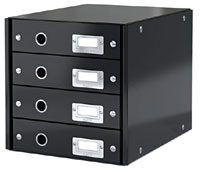 6049-00-95 - Esselte Leitz Black Click & Store 4 Drawer Unit