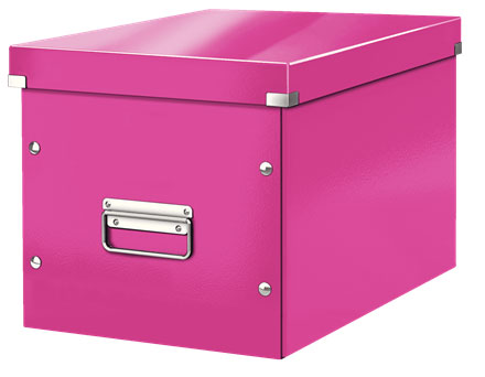 61080023 - ACCO Leitz Box Click & Store Cube Large, Pink Storage Box