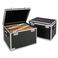 67140195 - Leitz A4 Suspension File Chest - Black & Chrome