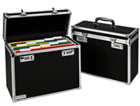67160195 - Leitz A4 Personal Mobile Filing Case - Black & Chrome