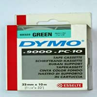 S0721290 - Dymo 32mm Green Tape x 10m - (legacy code-69325) Limited Stock Left (10)