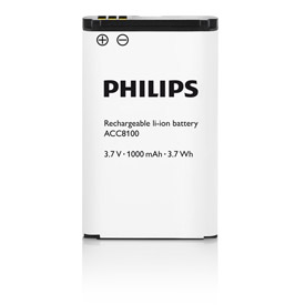 25501J - Philips ACC8100 Rechargeable Battery