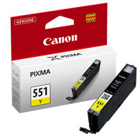 6446B001 - Canon Cli-551Y XL High Capacity Yellow Ink Tank for MG7150, MG5450, MG6350, iP7250 & MX925