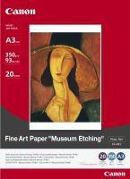 FAME1A3 - Canon FA-ME1 A3 Fine Art Paper - Museum Etching, Pack of 20 Sheets, 350g/m2